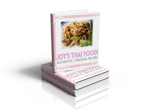 Joys Thai Food Recipe book available in paperback and ebook formats.